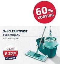 Set clean twist flat mop xl-Leifheit