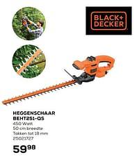 Black + decker heggenschaar beht251-qs-Black & Decker