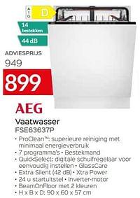 Aeg vaatwasser fse63637p-AEG