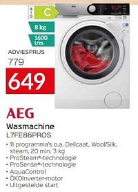 Aeg wasmachine l7fe86pros-AEG