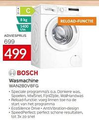 Bosch wasmachine wan280v8fg-Bosch