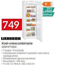 Liebherr koel-vriescombinatie gnp271324-Liebherr