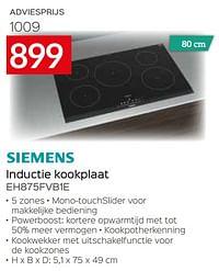 Siemens inductie kookplaat eh875fvb1e-Siemens