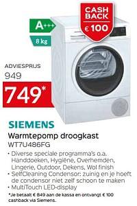 Siemens warmtepomp droogkast wt7u486fg-Siemens
