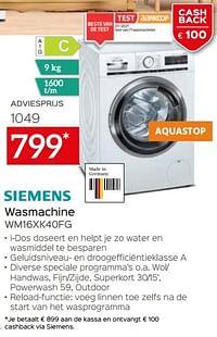 Siemens wasmachine wm16xk40fg-Siemens