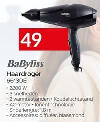 Babyliss haardroger 6613de-Babyliss