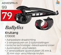 Babyliss krultang c1300e-Babyliss