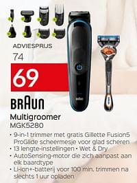 Braun multigroomer mgk5280-Braun