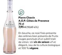 Pierre chavin a.o.p. côtes de provence-Rosé wijnen