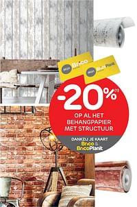 -20% op al het behangpapier met structuur-Huismerk - Brico