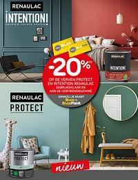 -20% op de verven protect en intention renaulac gebruiksklaar en aan de verfmengmachine-Renaulac