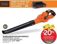 Bladblazer op accu gwc1820pcb-xj black + decker-Black & Decker