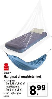 Hangmat of muskietennet-Crivit