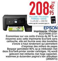 Epson imprimante - printer ecotank-2721-Epson