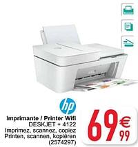 Hp imprimante - printer wifi deskjet + 4122-HP