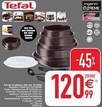 Set de 14 pièces - set van 14 stuks ingenio tobacco extreme-Tefal
