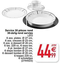Service 30 pièces rond 30-delig rond servies léo-Huismerk - Cora