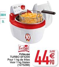 Fritel friteuse turbo sf4200-Fritel