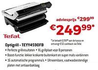 Tefal optigrill - teyy4590fb-Tefal