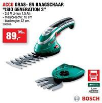 Bosch accu gras- en haagschaar isio generation 3-Bosch