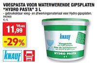 Voegpasta voor waterwerende gipsplaten hydro pasta-Knauf