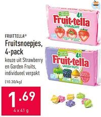 Fruitsnoepjes-Fruittella