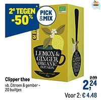 Clipper thee citroen + gember-Clipper