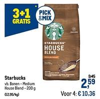 Starbucks bonen - medium house blend-Starbucks