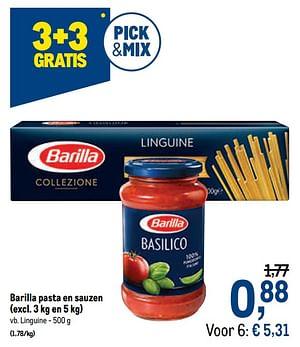 Barilla pasta en sauzen linguine