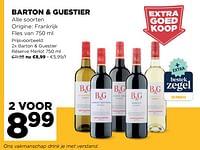Barton + guestier réserve merlot-Rode wijnen