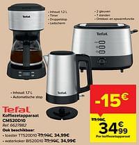 Tefal koffiezetapparaat cm520d10-Tefal