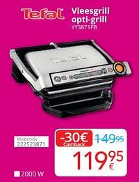Tefal vleesgrill opti-grill yy3871fb-Tefal