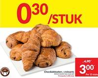 Chocoladekoeken of croissants-Huismerk - Intermarche