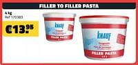 Filler to filler pasta-Knauf