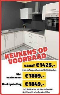 Keukens op voorraad met vaatwasser-Huismerk - Bouwcenter Frans Vlaeminck