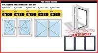 Pvc stock ramen 1-vleugelig draaikipraam - pvc wit-Huismerk - Bouwcenter Frans Vlaeminck