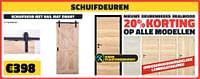 Schuifdeuren schuifdeur met rail mat zwart-Huismerk - Bouwcenter Frans Vlaeminck