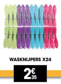 Wasknijpers x24-Huismerk - Electro Depot