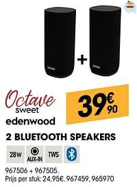Edenwood 2 bluetooth speakers-Edenwood