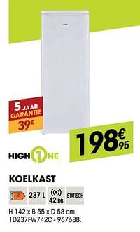 Highone koelkast 1d237fw742c-HighOne