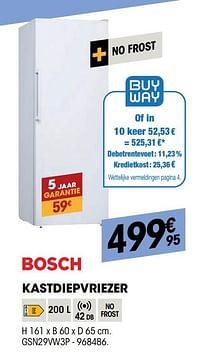 Bosch kastdiepvriezer gsn29vw3p-Bosch