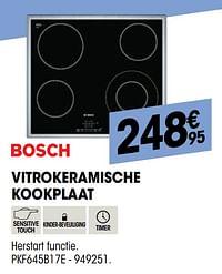 Bosch vitrokeramische kookplaat pkf645b17e-Bosch