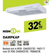 Highone dampkap ch60w373c-HighOne