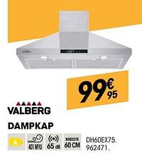 Valberg dampkap dh60ex75-Valberg