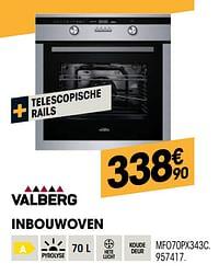 Valberg inbouwoven mfo70px343c-Valberg