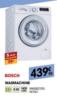 Bosch wasmachine wan28272fg-Bosch