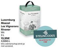 Luxemburg moezel les vignerons rivaner wit-Witte wijnen
