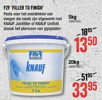 F2f filler to finish-Knauf