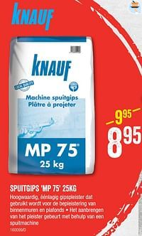 Spuitgips mp 75-Knauf