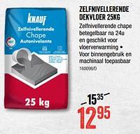 Zelfnivellerende dekvloer-Knauf